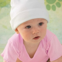 Baby Embroidered Knit Caps & Beanies