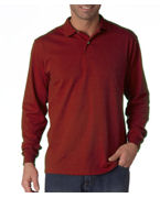 Embroidered (437lbr) Jerzees Adult Long-Sleeve Jersey Polo with SpotShield�