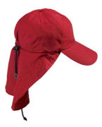 Logo Adams 6-Panel Cap with Elongated Bill and Neck Cape