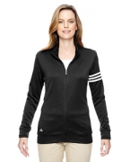 Embroidered adidas Golf Ladies' climalite 3-Stripes Full-Zip Jacket