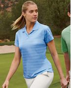 Embroidered adidas Golf Ladies' ClimaLite Textured Short-Sleeve Polo