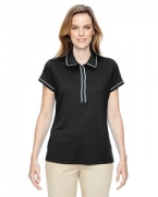 Embroidered adidas Golf Ladies' Piped Fashion Polo