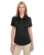 Embroidered adidas Golf Ladies' 3-Stripes Shoulder Polo