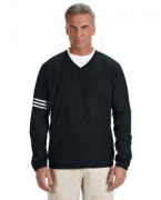 Embroidered adidas Golf Men's ClimaLite Colorblock V-Neck Wind Shirt