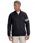 Monogrammed adidas Golf Men's ClimaLite 3-Stripes Pullover