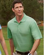 Custom Logo adidas Golf Men's ClimaLite Textured Short-Sleeve Polo