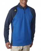 Custom Logo adidas Golf Men's ClimaWarm 3-Stripes Color Block 1/4-Zip Training Top