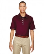 Custom Logo adidas Golf Men's puremotion Piped Polo