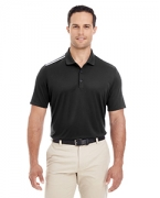 Custom Logo adidas Golf Men's 3-Stripes Shoulder Polo