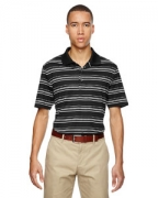 Custom Logo adidas Golf puremotion Textured Stripe Polo