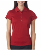 Logo Adidas Ladies' ClimaLite Solid Polo