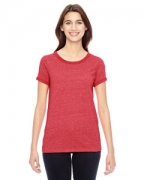 Embroidered Alternative Ladies' Eco-Mock Twist Ideal Ringer T-Shirt