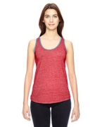 Embroidered Alternative Ladies' Eco-Mock Twist Ringer Tank