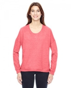 Embroidered Alternative Ladies' Eco-Mock Twist Sunset Crewneck