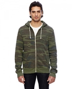 Embroidered Alternative Men's Eco Fleece Triblend Rocky Full-Zip Fashion Hoodie
