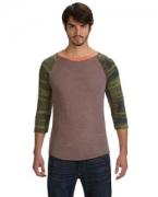 Promotional Alternative Men's Eco Jersey Triblend Baseball Fashion T-Shirt
