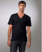 Logo American Apparel Organic Cotton Short Sleeve V-Neck