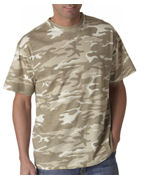 Embroidered Anvil Adult Camouflage Tee