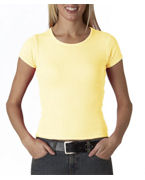 Monogrammed Anvil Ladies' 1X1 Scoop-Neck Tee