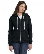 Custom Logo Anvil Ladies' Full-Zip Hooded Fleece Jacket
