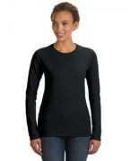 Logo Anvil Ladies' Junior Fit Ringspun Long-Sleeve T-Shirt