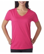 Logo Anvil Ladies' Lightweight V-Neck Cotton Tee