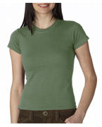 Embroidered Anvil Ladies' Semi-Sheer Crewneck Tee