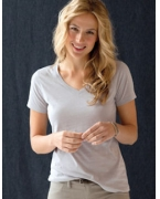 Embroidered Anvil Ladies' 3.2 oz. Sheer V-Neck T-Shirt