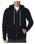 Embroidered Anvil Men's Fashion Full-Zip Hooded Sweatshirt