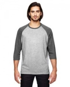 Monogrammed Anvil Triblend 3/4-Sleeve Raglan T-Shirt