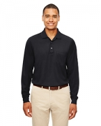 Monogrammed Ash City - Core 365 Adult Pinnacle Performance Pique Long-Sleeve Polo with Pocket