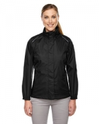 Custom Logo Ash City - Core 365 Ladies' Climate Seam-Sealed Lightweight Variegated Ripstop Jacket