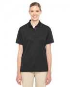 Embroidered Ash City - Core 365 Ladies' Motive Performance Pique Polo with Tipped Collar