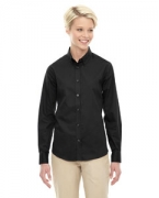 Custom Embroidered Ash City - Core 365 Ladies' Operate Long-Sleeve Twill Shirt