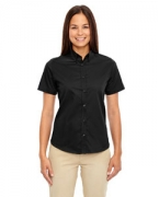 Monogrammed Ash City - Core 365 Ladies' Optimum Short-Sleeve Twill Shirt