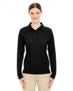Monogrammed Ash City - Core 365 Ladies' Pinnacle Performance Long-Sleeve Pique Polo