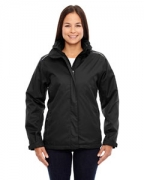 Logo Ash City - Core 365 Ladies' Region 3-in-1 Jacket with Fleece Liner