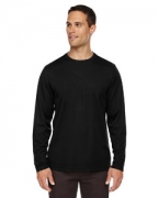 Personalized Ash City - Core 365 Men's Agility Performance Long-Sleeve Pique Crew Neck