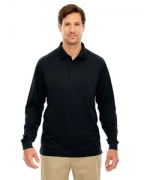 Monogrammed Ash City - Core 365 Men's Pinnacle Performance Long-Sleeve Pique Polo