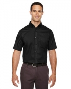 Custom Logo Ash City - Core 365 Men's Tall Optimum Short-Sleeve Twill Shirt