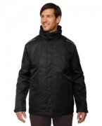 Personalized Ash City - Core 365 Men's Tall Region 3-in-1 Jacket with Fleece Liner