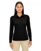Monogrammed Ash City - Extreme Eperformance Ladies' Armour Snag Protection Long-Sleeve Polo