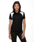 Personalized Ash City - Extreme Eperformance Ladies' Colorblock Textured Polo