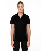 Monogrammed Ash City - Extreme Eperformance Ladies' Fuse Snag Protection Plus Colorblock Polo