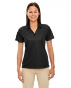 Monogrammed Ash City - Extreme Eperformance Ladies' Launch Snag Protection Striped Polo