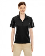 Personalized Ash City - Extreme Eperformance Ladies' Parallel Snag Protection Polo with Piping