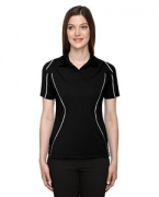 Custom Embroidered Ash City - Extreme Eperformance Ladies' Velocity Snag Protection Colorblock Polo with Piping