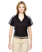 Customized Ash City - Extreme Ladies' Eperformance Strike Colorblock Snag Protection Polo