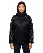 Logo Ash City - North End Ladies' Angle 3-in-1 Jacket with Bonded Fleece Liner