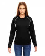 Customized Ash City - North End Ladies' Athletic Long-Sleeve Sport Top